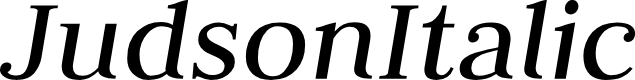 Preview image for JudsonItalic