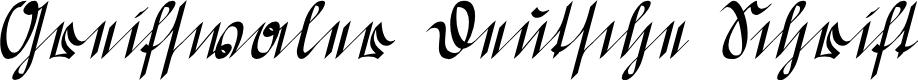 Preview image for Greifswaler Deutsche Schrift Font
