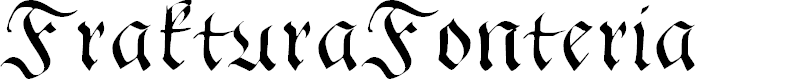 Preview image for FrakturaFonteria Font