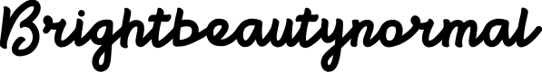 Preview image for Brightbeautynormal Font