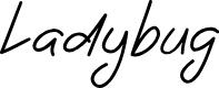 Preview image for Ladybug font regular Font