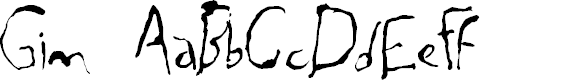 Preview image for Gim Font