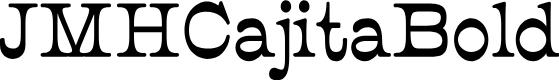 Preview image for JMHCajita-Bold Font