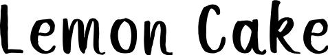 Preview image for Lemon Cake Font