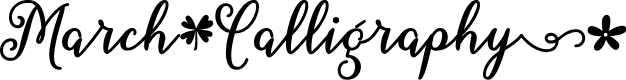 Preview image for March Calligraphy Font