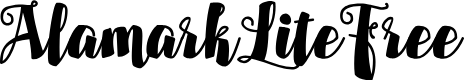 Preview image for AlamarkLiteFree Font