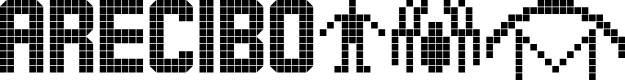 Preview image for ARECIBO MESSAGE Font