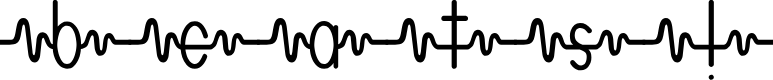 Preview image for heartbeats Font