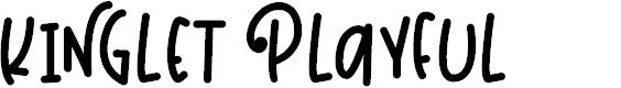 Preview image for Kinglet Playful Font