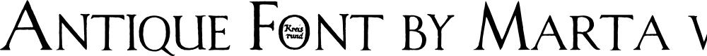 Preview image for Antique Font by Marta van Eck CU Font