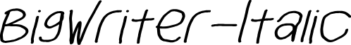 BigWriter-Italic