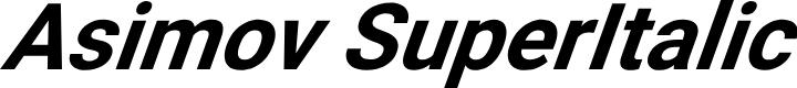 Preview image for Asimov SuperItalic
