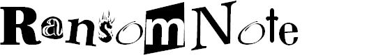 Preview image for RansomNote Font