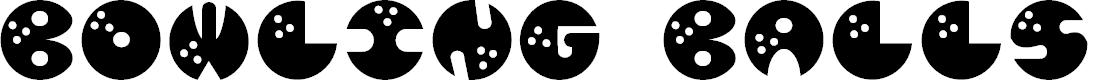 Preview image for JI BowlingBalls Font