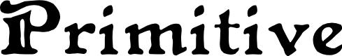 Preview image for Primitive Font