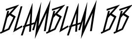 Preview image for BlamBlam BB Font
