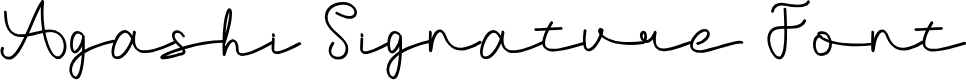 Preview image for Agashi Signature Font