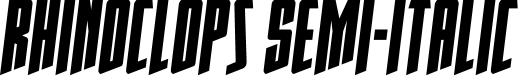 Preview image for Rhinoclops Semi-Italic