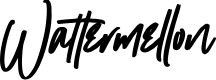 Preview image for Wattermellon Font