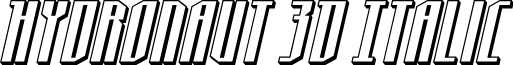 Hydronaut 3D Italic