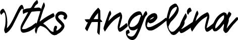 Preview image for Vtks Angelina Font