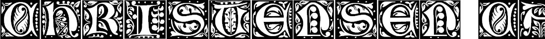 Preview image for ChristensenCaps Regular Font