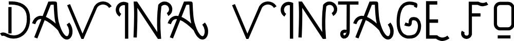 Preview image for DAVINA - VINTAGE FONT