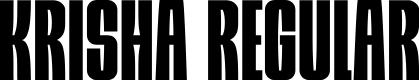 Preview image for Krisha Regular Font