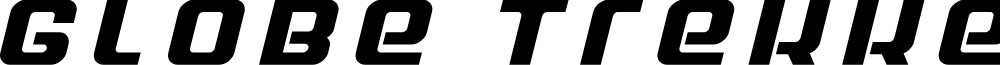 Globe Trekker Title Italic