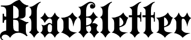 Preview image for Blackletter ExtraBold Font