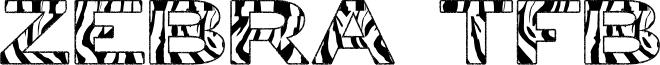 zebra tfb font