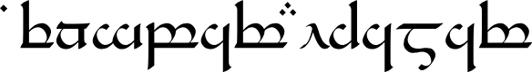 Preview image for Tengwar Eldamar Font