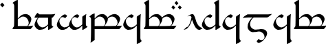 Tengwar Eldamar font