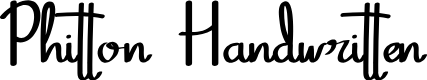 Preview image for Phitton Handwritten Font