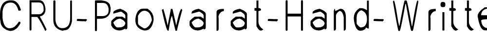 Preview image for CRU-Paowarat-Hand-Written-Regul Font