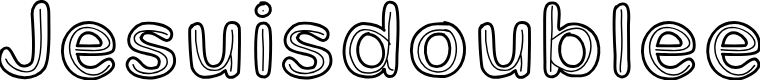 Preview image for Jesuisdoublee Font