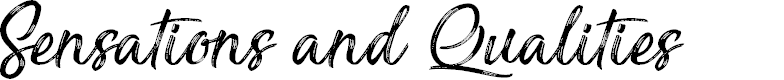 Preview image for Sensations and Qualities Font