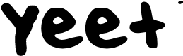 Preview image for yeet Font