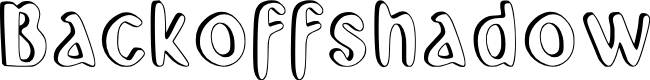 Preview image for Backoff_shadow Font