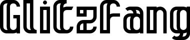 Preview image for Glitzfang Regular Font