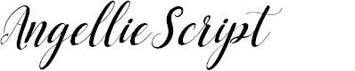 Preview image for AngellieScript Font