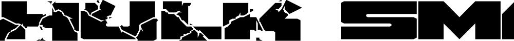 Preview image for HulkSmash Regular Font