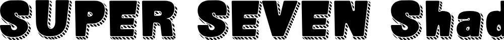 Preview image for SUPER SEVEN Shadowed Demo Font