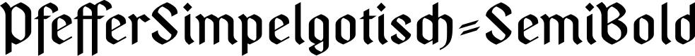 Preview image for PfefferSimpelgotisch-SemiBold