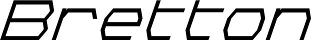 Preview image for Bretton Semi-Bold Super-Italic