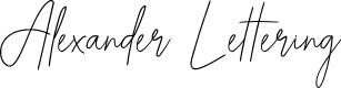 Preview image for Alexander Lettering Font