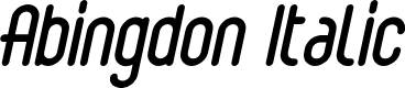 Preview image for Abingdon Italic