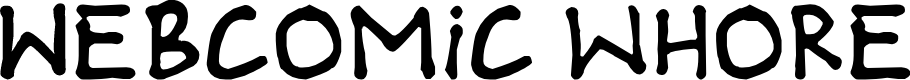 Preview image for Webcomic whore Font