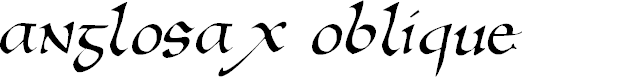 Preview image for AnglosaxOblique Font