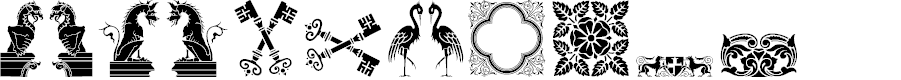 Preview image for Medieval Dingbats Font